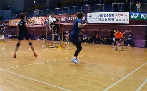 【低视角】王晓理参加清晨杯专业女双比赛 基本功扎实啊!