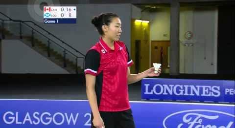 2014英联邦运动会女单决赛:李文珊vs吉尔莫