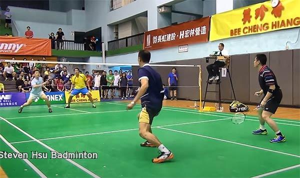【低视角】2014清晨杯专业组男双,退役大叔多拍能力很强啊