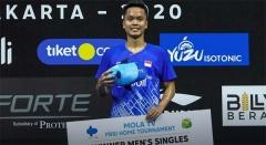 乔纳坦抽筋退赛 金廷夺得印尼队内赛冠军