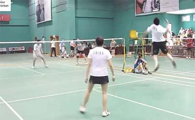不一般的小区羽球比赛 网友:国羽家属院吗?