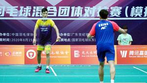 刘亮VS王正行 国羽二队混合团体模拟对抗赛 男单决赛视频