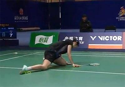 陈雨菲蔡炎炎精彩TOP5 背后救球 超多拍累到吐