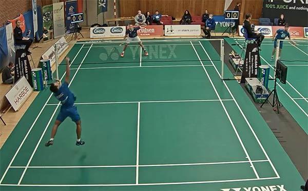 马克vs穆尼奥斯 2020年丹麦羽毛球联赛