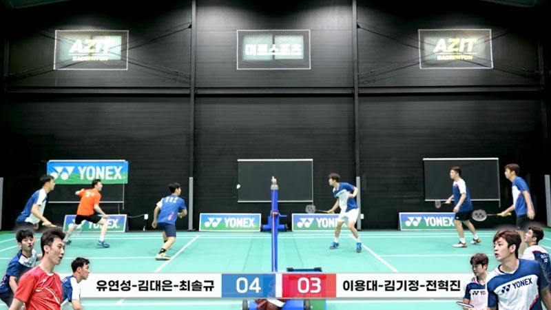 韩国男双3v3 要什么战术直接上速度!