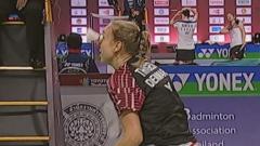 丹麦女双选手生日当天被击中眼睛退赛