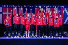 安赛龙4战全胜!助丹麦3-0横扫法国实现4连冠丨 欧洲混合团体决赛