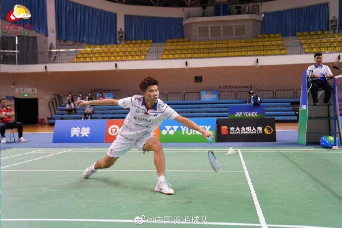 翁泓阳VS顾俊峰 2021年国羽队内对抗赛男单半决赛视频