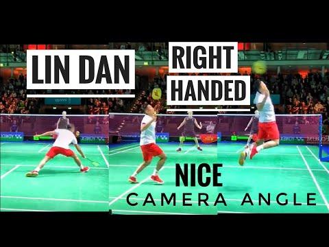 【低视角】林丹右手打球镜像视频!球路学起来