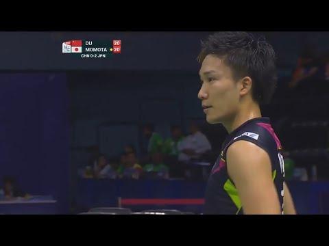 桃田贤斗成名之战,2014汤杯3局逆转杜鹏宇集锦