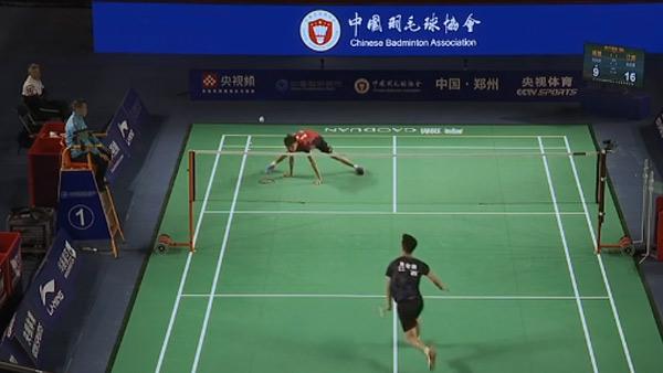赵俊鹏VS吴凯安 2021全运会羽毛球 男团资格赛视频