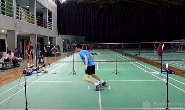 印尼队测试选手身体机能,亨德拉移动最慢?