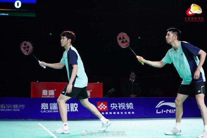 韩呈恺/何济霆VS谢浩南/王懿律 2021全运会羽毛球 男团决赛视频