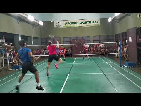 印尼业余混双比赛低视角集锦,你打得过他们吗?