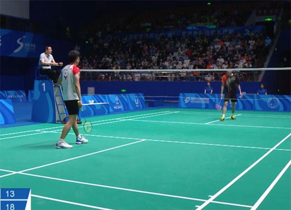 2021中国大学生混合团体决赛,林贵埔vs罗永杰