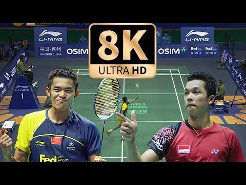 8K画质!林丹vs陶菲克2011年羽联总决赛集锦