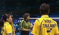 陈宏麟/程文欣VS玛尼蓬/沙威丽 2011苏迪曼杯 混双资格赛视频