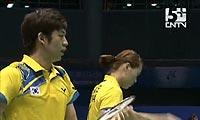 李龙大/河贞恩VS沃尔沃克/罗布森 2011苏迪曼杯 混双资格赛明仕亚洲官网