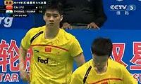 蔡赟/傅海峰VS萨纳维/鲁佩什 2011苏迪曼杯 男双1/4决赛视频