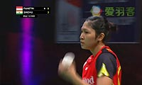 法内特里VS辛德胡 2013苏迪曼杯 女单资格赛视频