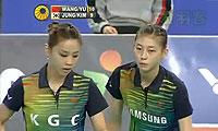 于洋/王晓理VS金荷娜/郑景银 2013韩国公开赛 女双半决赛视频