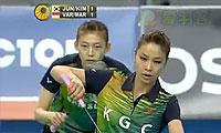 郑景银/金荷娜VS玛丽莎/瓦里拉 2013韩国公开赛 女双1/8决赛视频