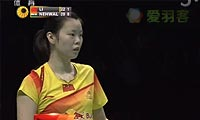 李雪芮VS内维尔 2012世界羽联总决赛 女单半决赛明仕亚洲官网