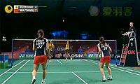 马晋/汤金华VS松友美佐纪/高桥礼华 2012丹麦公开赛 女双决赛视频