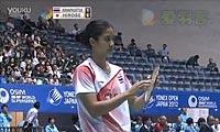 广濑荣理子VS蓬迪 2012日本公开赛 女单半决赛视频