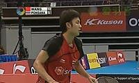 波萨那VS王睁茗 2012新加坡公开赛 男单决赛视频