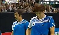 郑在成/李龙大VS鲍伊/摩根森 2011法国公开赛 男双半决赛明仕亚洲官网