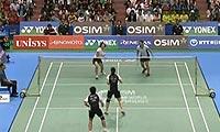 包宜鑫/钟倩欣日羽赛女双逆转夺冠 2011日本羽毛球公开赛 羽毛球比赛视频