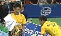 蔡赟/傅海峰VS古健杰/陈文宏(第一局) 2010日本公开赛 男双决赛视频