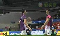 蔡赟/傅海峰VS古健杰/陈文宏(第二局) 2010日本公开赛 男双决赛视频