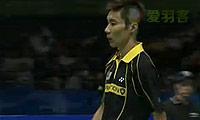 林丹VS李宗伟(第二局) 2009苏迪曼杯 男单半决赛视频