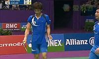 陈文宏/古健杰VS李龙大/郑在成(第二局) 2010世锦赛 男双1/4决赛视频