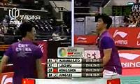 蔡赟/傅海峰VS阿尔文/古纳万 2011新加坡公开赛 男双决赛视频