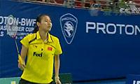 裴延姝VS王仪涵 2010尤伯杯 女单决赛视频