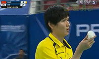 鲍春来VS李炫一 2010汤姆斯杯 男单资格赛视频