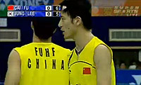 蔡赟/傅海峰VS郑在成/李龙大 2009羽毛球世锦赛 男双决赛视频