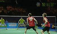 鲍伊/摩根森VS柴飚/郭振东 2011全英公开赛 男双半决赛视频