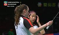 文博/兰纳森VS布鲁斯/菲莉斯 2013苏迪曼杯 女双资格赛视频