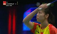 李雪芮VS杰克斯菲德 2013苏迪曼杯 女单半决赛视频