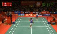 杜鹏宇VS阮天明 2013印尼公开赛 男单1/16决赛视频