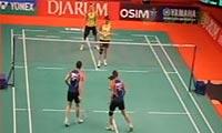 包宜鑫/成淑VS田卿/赵芸蕾 2013印尼公开赛 女双半决赛视频