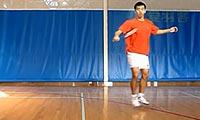 羽毛球步法:并步跳