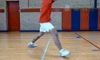 羽毛球步法:正手上网步法