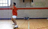 羽毛球步法:后退步法连接