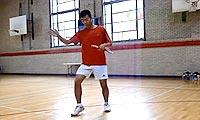 羽毛球步法:站位调整