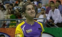 马琳VS辛德胡 2013印度羽毛球联赛 女单资格赛视频